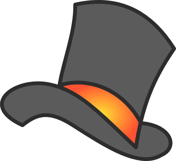 Gray Top Hat Clip Art at Clker.com - vector clip art ...