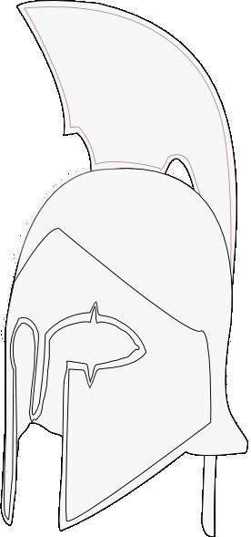 spartan helmet coloring pages - spartan helmet clip art at vector clip art