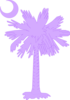 Purple Palm And Moon2 Clip Art