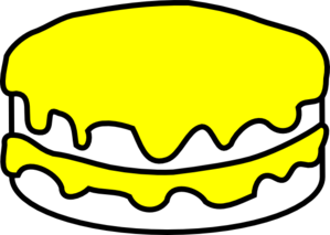 Yellow And Vanilla Cake Clip Art