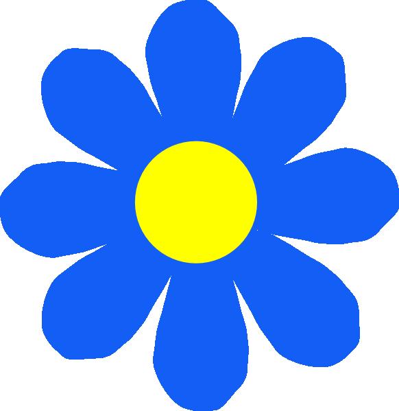 Blue Flower Clip Art At Clker Com Vector Clip Art Online