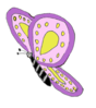Purple Yellow Butterfly Clip Art