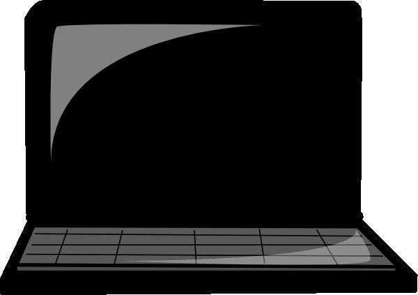 Laptop Silhouette Clip Art at Clker.com - vector clip art ...