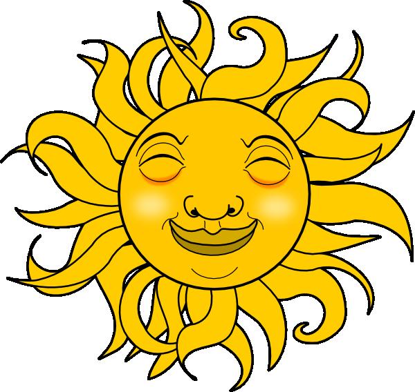 Smiling Sun Clip Art at Clker.com - vector clip art online ...