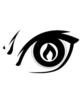 Burning Eye Clip Art