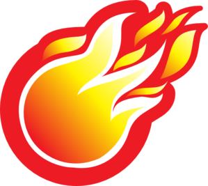 Fire Ball Icon Clip Art