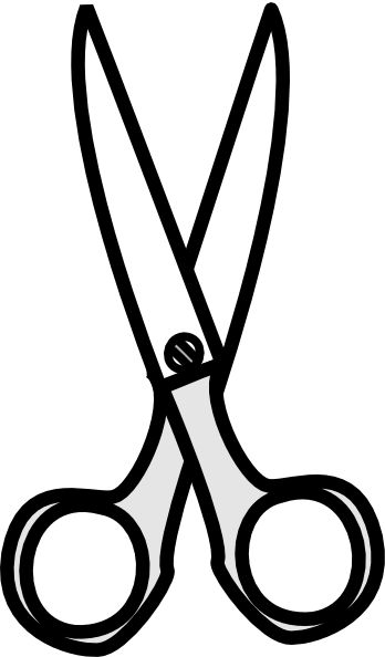 black white scissors clip art at clker com vector clip art rh clker com scissors clipart black and white