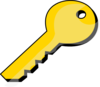 Gold Key Clip Art