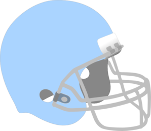 Light Blue Football Helmet Clip Art