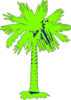 South Carolina Flag Palmetto With No Moon - Green Clip Art