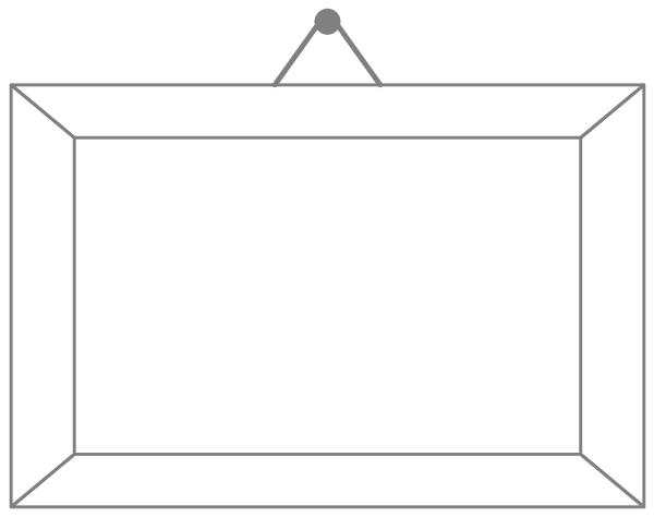 Hanging Picture Frame Clip Art At Clker Com Vector Clip Art Online