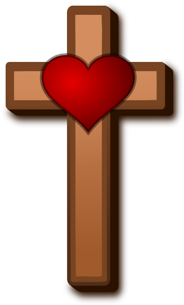 free cross and heart clipart - photo #48