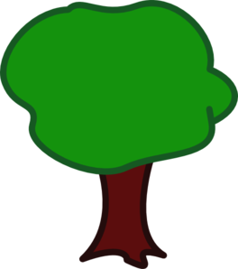 Tree - Rounded Clip Art