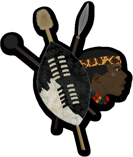 Zulu Shield Drawing Warrior shield clip artZulu Shield Drawing