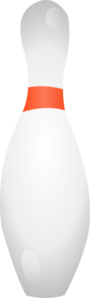 Bowling Pin Shadows Clip Art