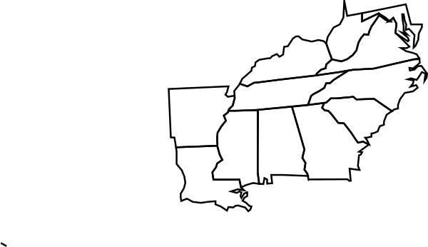 Blank Map Of The Eastern Part Of The Us - Us outline map blank