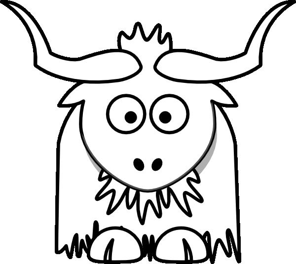 Yak Outline Clip Art at Clker.com - vector clip art online, royalty ...