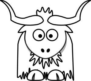 Yak Outline Clip Art At Clkercom Vector Clip Art Online Royalty