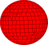Red Disco Ball Clip Art