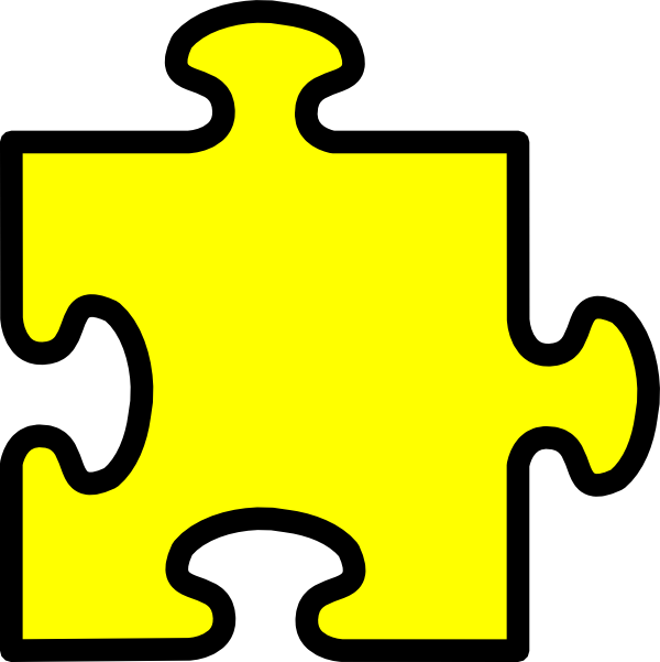 yellow puzzle piece clip art at clker com vector clip art online rh clker com puzzle piece clipart black and white puzzle piece clip art for powerpoint