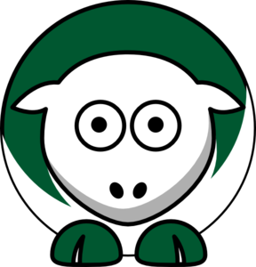 Sheep - Dartmouth Big Green - Team Colors - College Football Clip Art