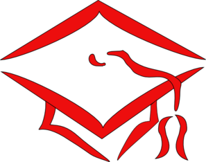 Red Mortarboard Graduation Clip Art