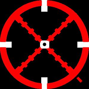 crosshairred clip art at clkercom vector clip art
