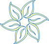 Yellow Blue Flower Clip Art