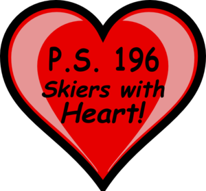Ps196 Skiers With Heart.svg Clip Art