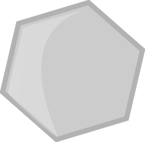 Hexagon Gris Clip Art