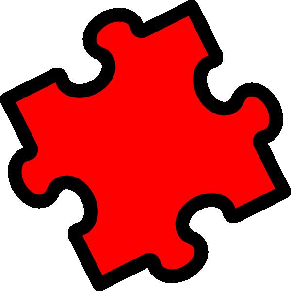 Red Puzzle Clip Art at Clker.com - vector clip art online ...