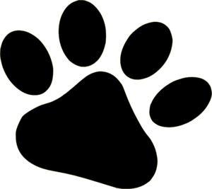 black pet paw clip art at clker com vector clip art online rh clker com dog paw print vector dog paw vector image