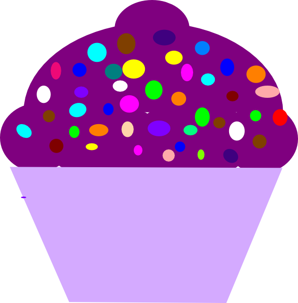 Cupcake Purple Clip Art at Clker.com - vector clip art ...