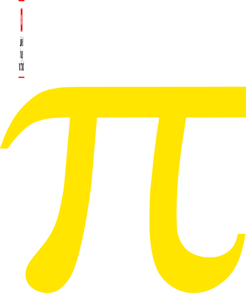 Gold pi symbol clip art at vector clip art for Pi character