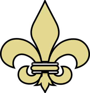 Fleur De Lis Gold With Black Clip Art
