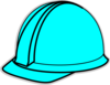 Turquoise Hard Hat Clip Art