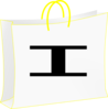 White Bag For Shopping. Bolsa Blanca De Compras. Clip Art