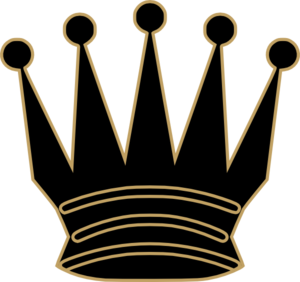 Gray Queen Crown Clip Art