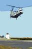 A Ch-46 Sea Knight Assigned To The Dragon Whales Of Helicopter Combat Support Squadron Eight (hc-8), Evacuate Aircraft Inland. Clip Art