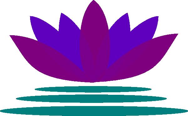 free blue lotus flower clip art - photo #12