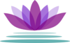 Purple Lotus Flower With Water  Clip Art