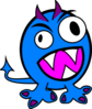 Blue And Purple Monster Clip Art