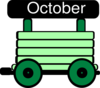 Loco Train Carriage Green Clip Art