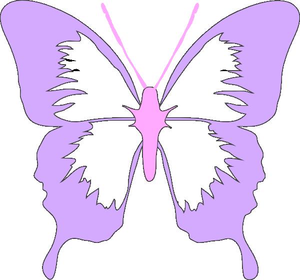 Purple Pink Butterfly Clip Art at Clker.com - vector clip ...