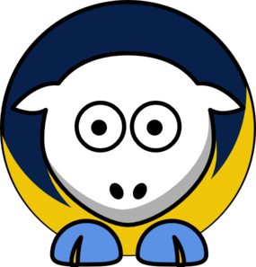 Sheep 4 Toned San Diego Chargers Team Colors Clip Art