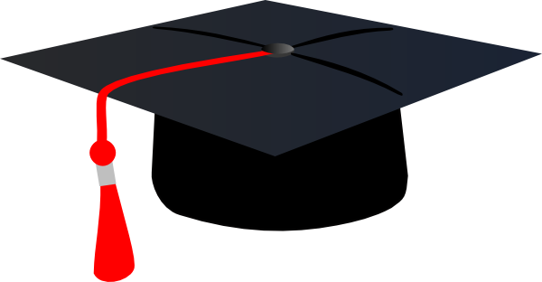 Graduation Hat With Red Tassle Clip Art at Clker.com ...