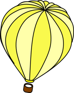 Hot Air Balloon Yellow Clip Art