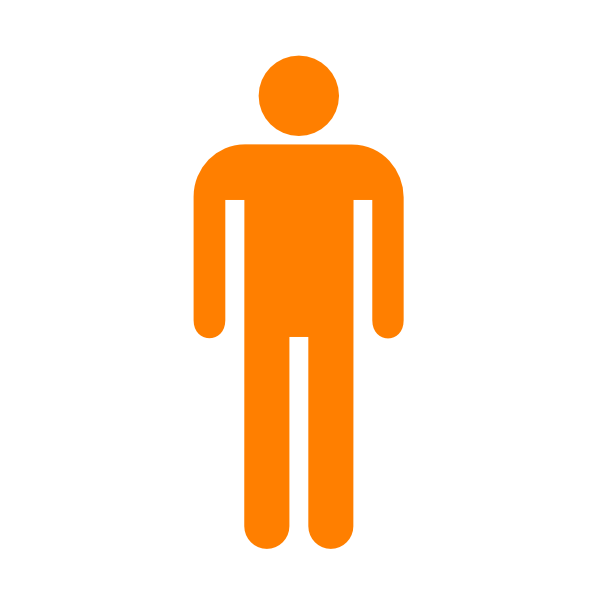 Man Silhouette Without Border Orange Clip Art At Clker Com