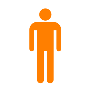 Man Silhouette Without Border Orange Clip Art