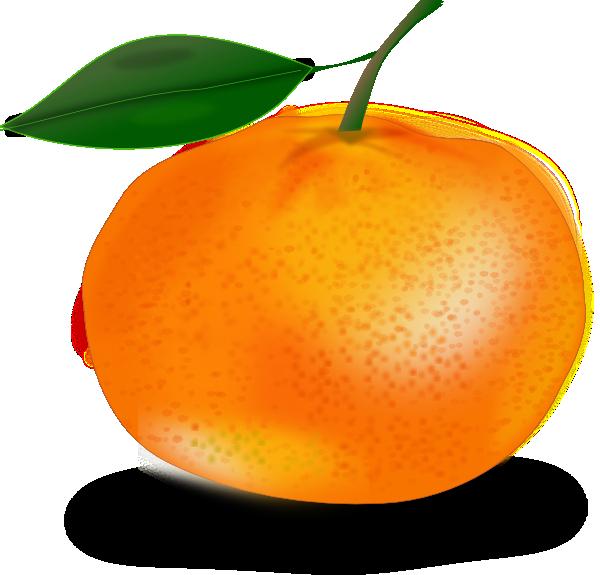 Orange with leaf clip art at vector clip art for Amber leaf